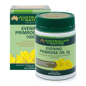 Evening Primrose Oil 1000mg 100 Capsules by Australian By Nature
