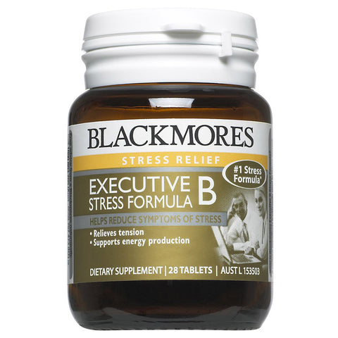 Image of Executive B Stress Formula 28 Tablets with Herbs by Blackmores