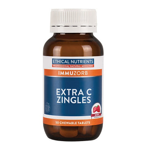 Extra C Zingles 50 Tablets by Ethical Nutrients