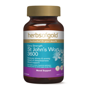 Extra Strength St Johns Wort 3600 30 Tablets by Herbs Of Gold