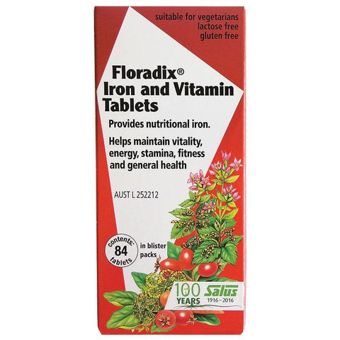 Floradix Iron and Vitamin Formula 84 Tablets