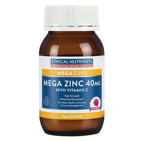 Image of Mega Zinc 40mg Powder 95g by Ethical Nutrients