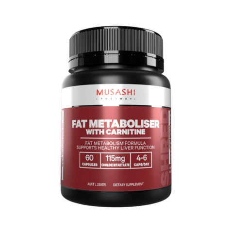 Musashi Fat Metaboliser With Carnitine 60 Capsules