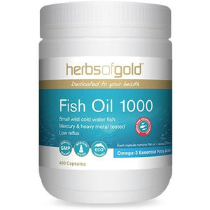 Fish Oil 1000mg 400 Capsules - Herbs of Gold