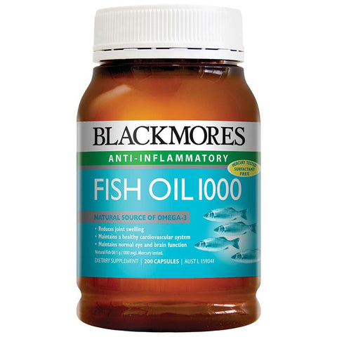 Image of Fish Oil 1000mg 200 Capsules by Blackmores
