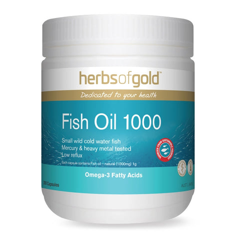 Image of Fish Oil 1000 200 Capsules by Herbs Of Gold