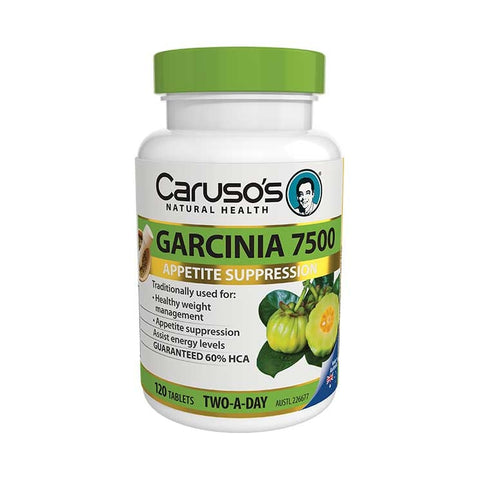 Carusos Natural Health Garcinia 7500 120 Tablets