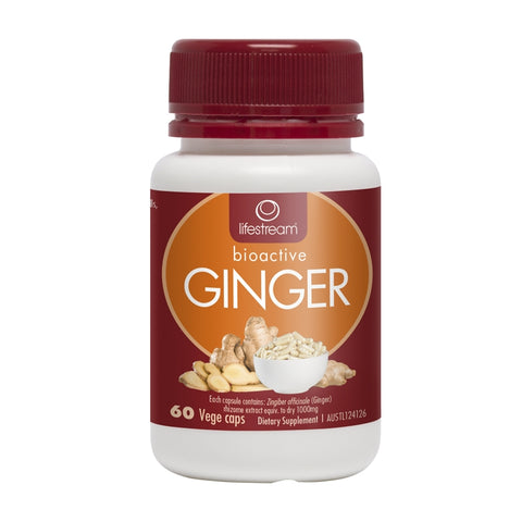 Image of Ginger 60 Vegetarian Capsules by Lifestream
