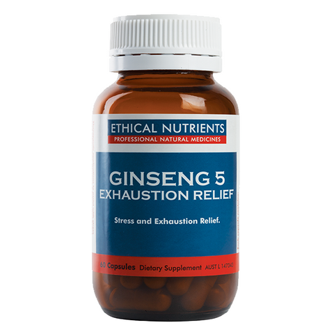 Image of Ginseng 5 Exhaustion Relief Capsules by Ethical Nutrients
