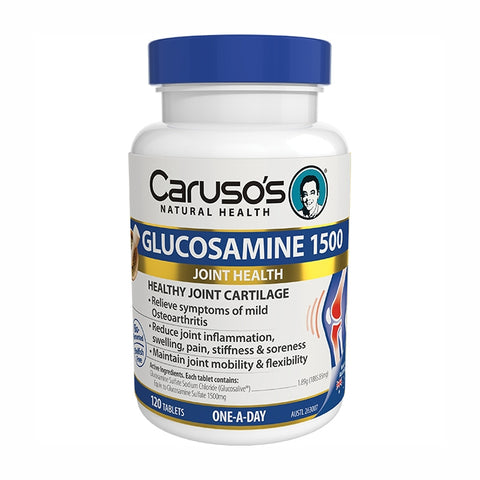 Carusos Natural Health Glucosamine 1500 120 Tablets
