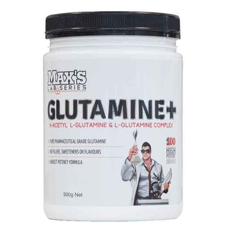 Image of Glutamine Plus 500g (NAGG Glutamine Blend) by Maxs Lab Series