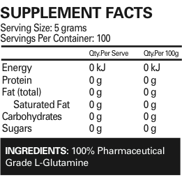 Glutamine (Micronized) 500g by EHP Labs