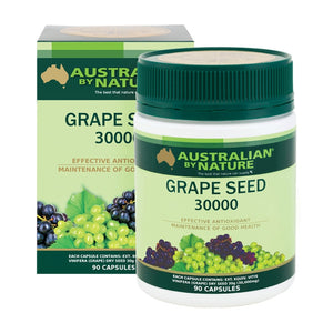 Australian By Nature Grape Seed 30000mg 90 Capsules