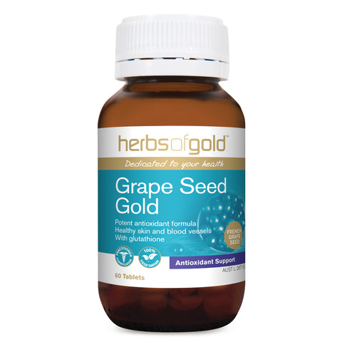 Image of Grape Seed Gold (grapeseed) 60 Tablets - Herbs of Gold