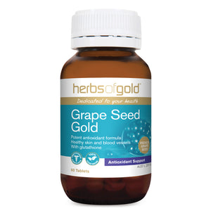 Grape Seed Gold (grapeseed) 60 Tablets - Herbs of Gold