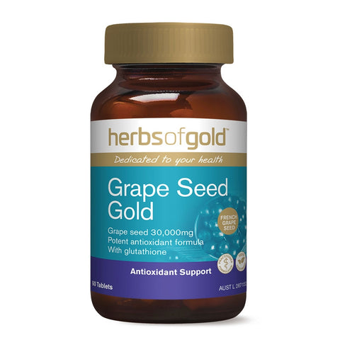 Image of Herbs Of Gold Grape Seed Gold 60 Tablets