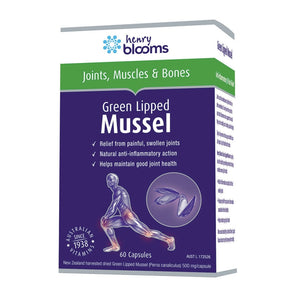 Green Lipped Mussel 500mg 60 Capsules by Blooms