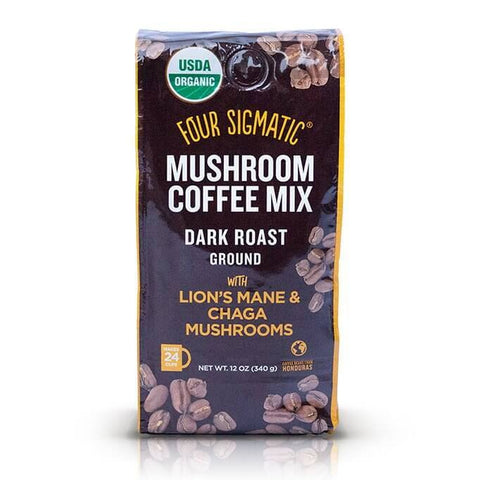 Four Sigmatic Mushroom Coffee Mix Dark Roast Ground