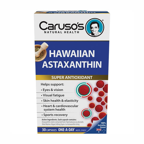 Hawaiian Astaxanthin 30 Capsules by Carusos Natural Health