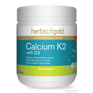 Calcium K2 with D3 by Herbs of Gold