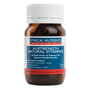 High Strength Natural Vitamin E 30 Capsules by Ethical Nutrients