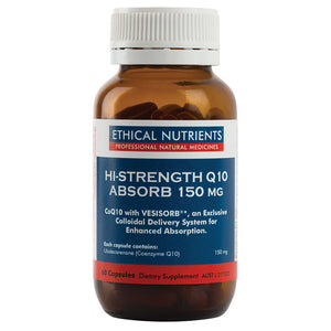 Hi-Strength Q10 Absorb 150mg 60 Capsules by Ethical Nutrients
