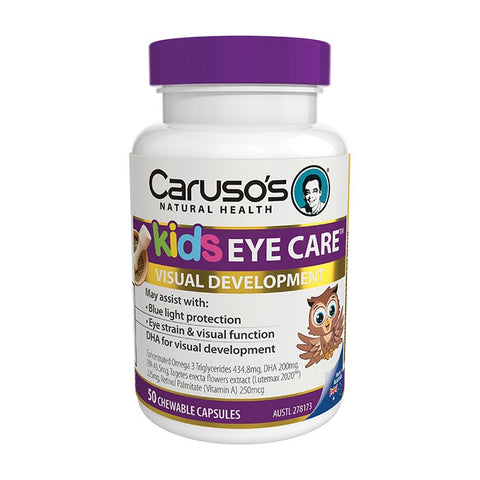 Carusos Natural Health Kids Eye Care 50 Capsules