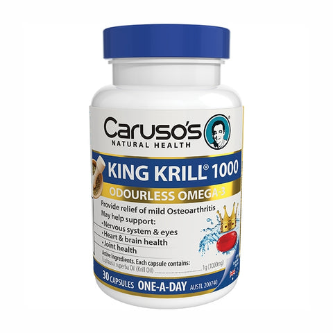 Image of King Krill 1000mg 30 Capsules by Carusos Natural Health