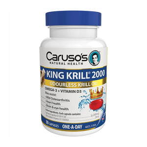King Krill 2000mg 30 Capsules by Carusos Natural Health