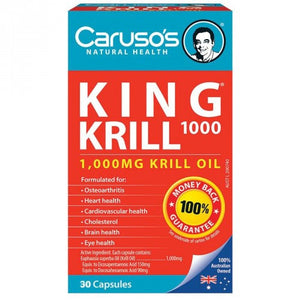 King Krill 1000mg 30 Capsules by Carusos Natural Health
