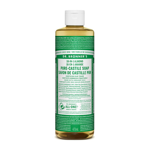 Dr Bronners 18-in-1 Pure-Castile Liquid Soap 473ml