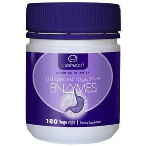 Advanced Digestive Enzymes 180 Capsules by Lifestream