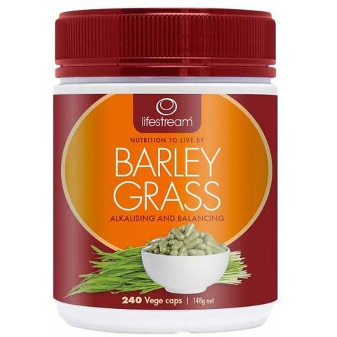 Image of Barley Grass 240 Vegetarian Capsules by Lifestream