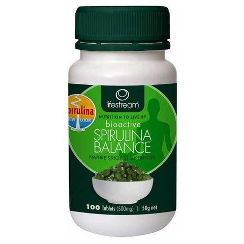 Image of Spirulina Balance 500mg 100 Tablets by Lifestream