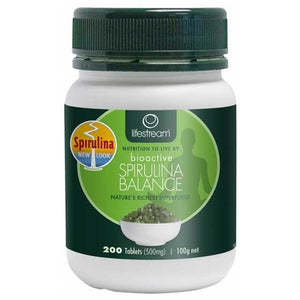 Spirulina Balance 500mg 200 Tablets by Lifestream