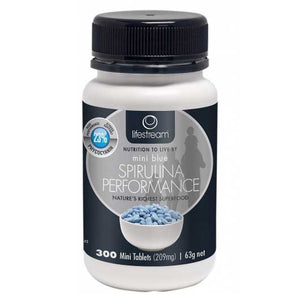 Spirulina Blue Mini 300 Tablets by LifeStream