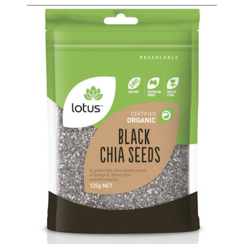 Lotus Chia Seeds Black Organic 125g