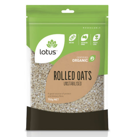 Lotus Rolled Oats Unstabilised Organic