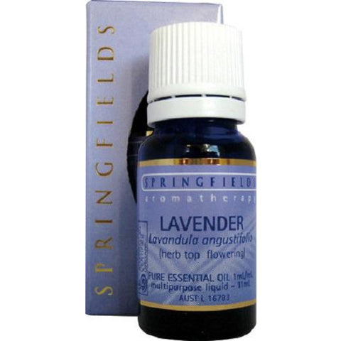 Lavender (Organic) Essential Oil 11ml by Springfields
