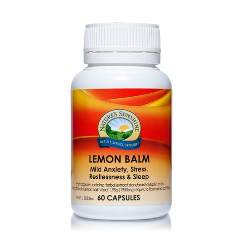 Natures Sunshine Lemon Balm 60 Capsules
