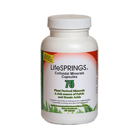 Colloidal Minerals 75 (Plant Derived Minerals) 120 Capsules by Lifesprings