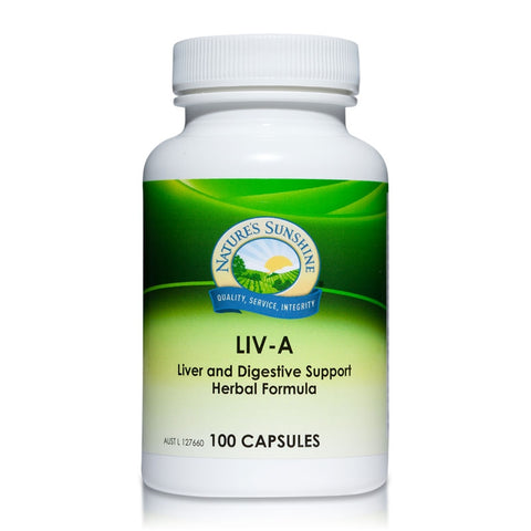 LIV-A 450mg 100 Capsules (LIVA) by Natures Sunshine