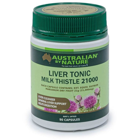 Australian By Nature Liver Tonic Milk Thistle 21000mg