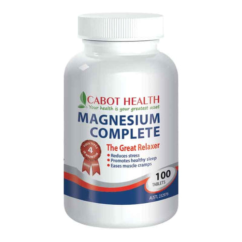 Magnesium Complete 100 Tablets by Cabot Health (Sandra Cabot)