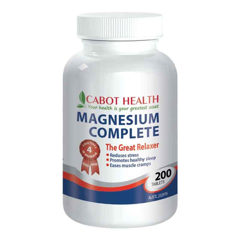 Magnesium Complete 200 Tablets by Cabot Health (Sandra Cabot)