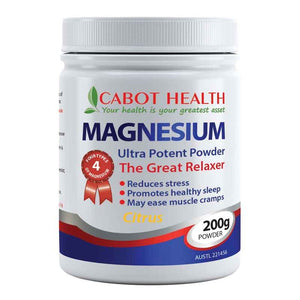 Magnesium Ultra Potent Powder 200g by Cabot Health (Sandra Cabot)