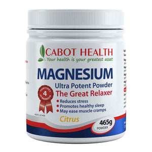 Magnesium Ultra Potent Powder 465g by Cabot Health (Sandra Cabot)