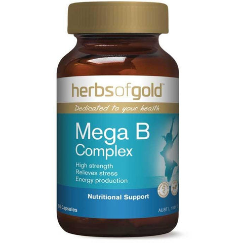 Mega B Complex (Vege Capsules) by Herbs of gold