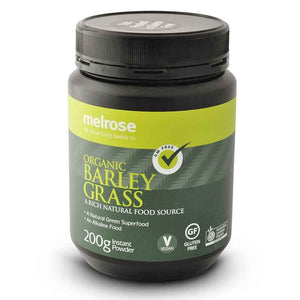 CleanGreen Barley Grass Powder (Organic) 200g by Melrose Health Supplies