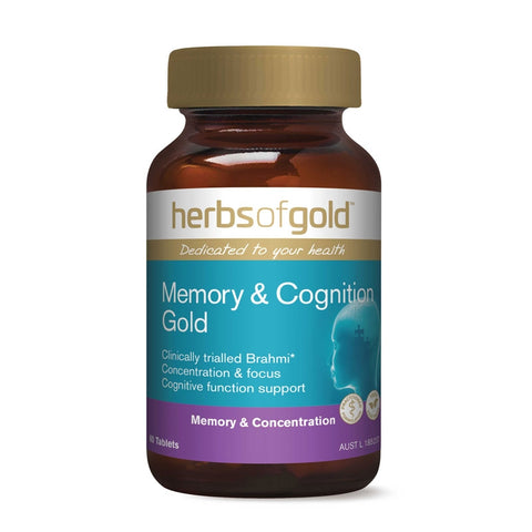 Image of Memory & Cognition Gold Tablets by Herbs of Gold